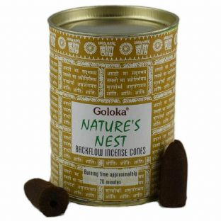 24 Goloka Backflow Incense Cones In Resealable Tin